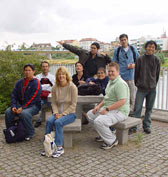 Maryann and Hawaiian Students at the Oder river